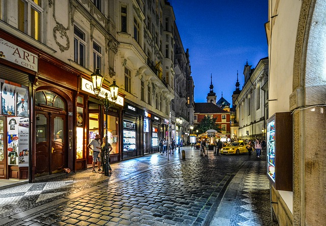 ulička v Praze