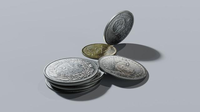 švýcarské franky, mince